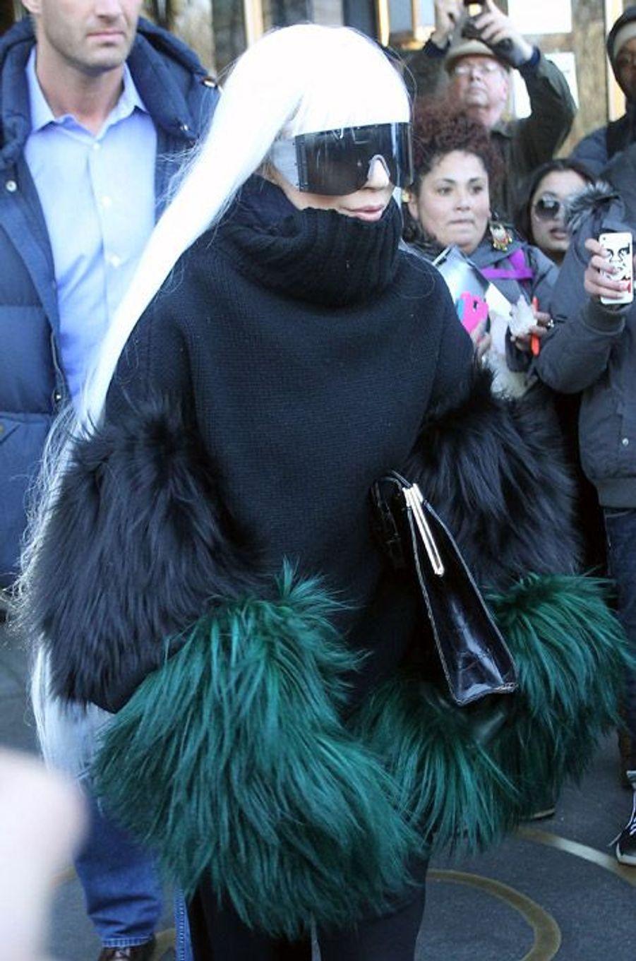 La chanteuse Lady Gaga à New York, le 26 mars 2014
