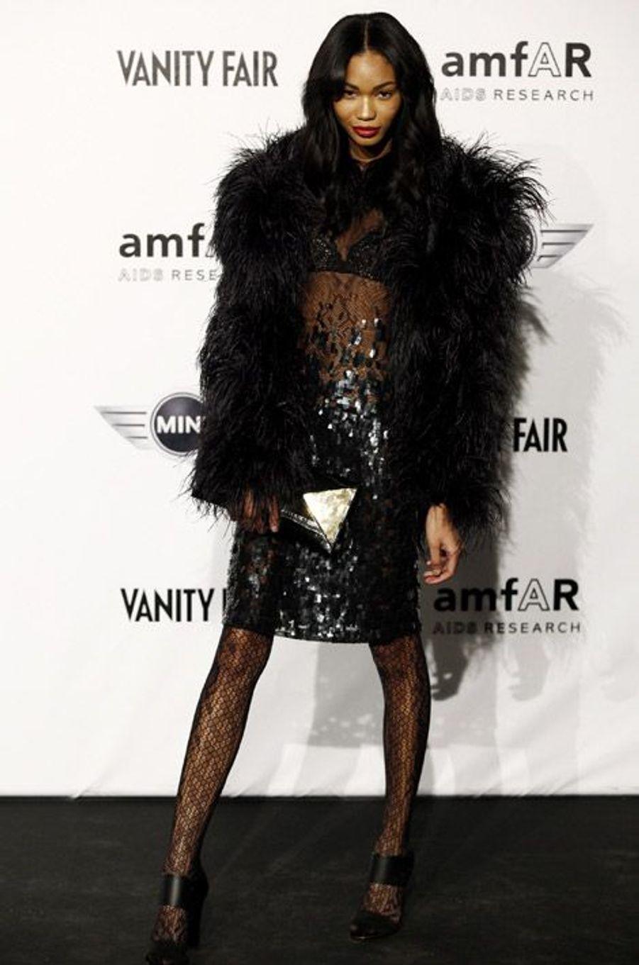 La mannequin Chanel Iman lors du gala de l'AmfAR à Milan, le 27 septembre 2010