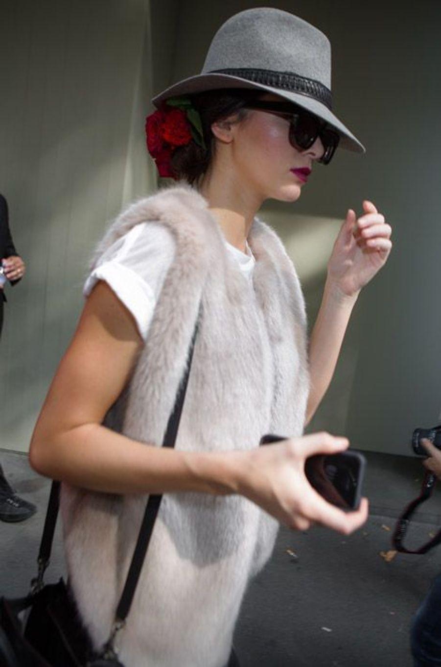 Le mannequin Kendall Jenner après le défilé Dolce 1 Gabbana pendant la Fashion Week de Milan, le 21 septembre 2014