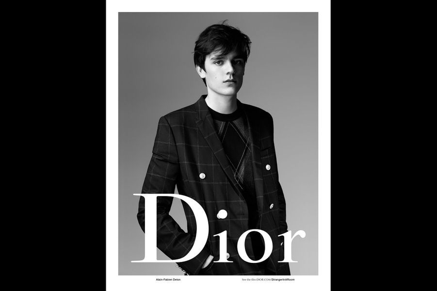 Alain-Fabien Delon pose pour Dior Homme