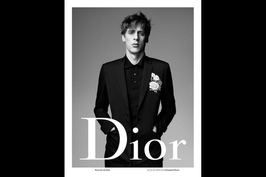 Rinus Van de Velde pose pour Dior Homme