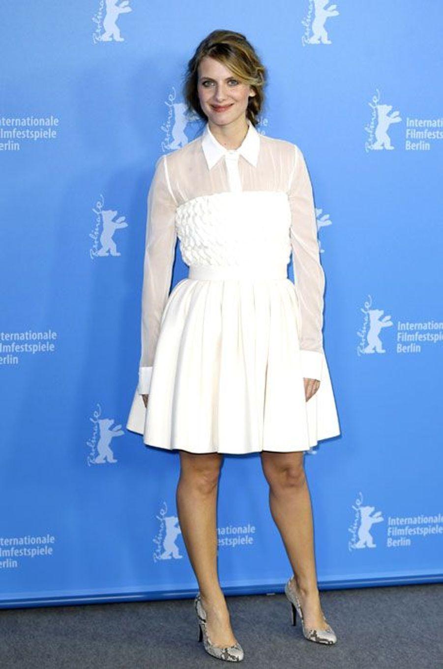 La robe-chemise: l'actrice Mélanie Laurent lors du festival international du film de Berlin, en février 2014