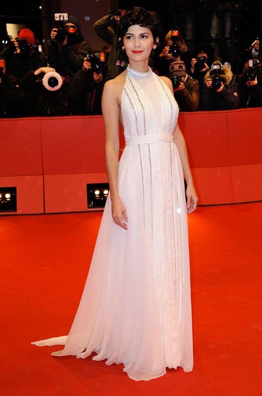 Audrey Tautou lors de la cérémonie de clôture du Festival international du film de Berlin, le 14 février 2015