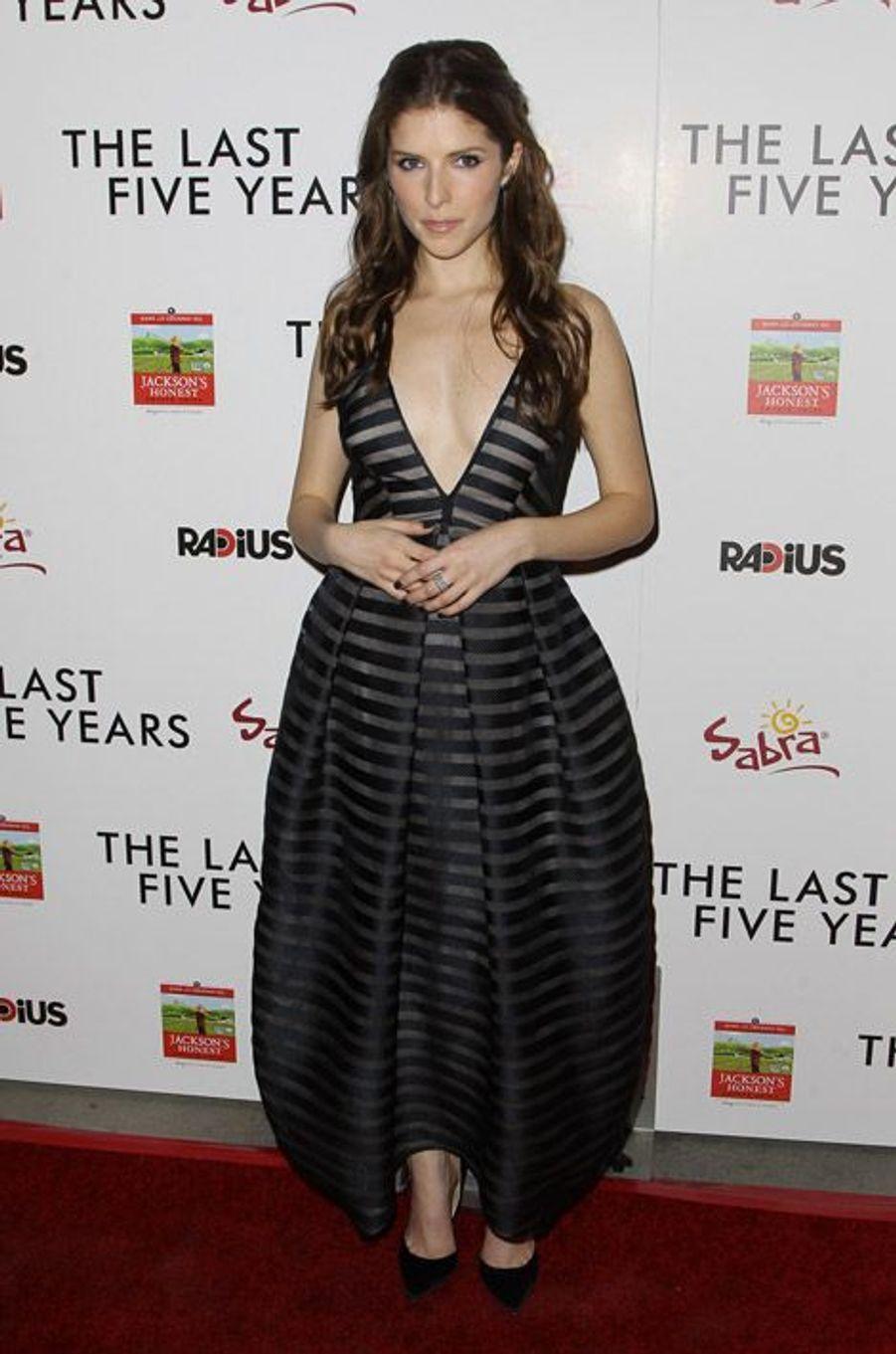 """L'actrice Anna Kendrick en Vionnet lors de la première de """"The Last Five Years"""" à Los Angeles, le 11 février 2015"""