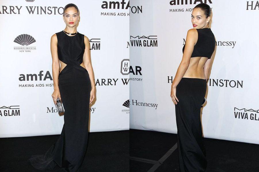 Le mannequin Shanina Shaik au gala de l'AmfAR à New York, le 11 février 2015