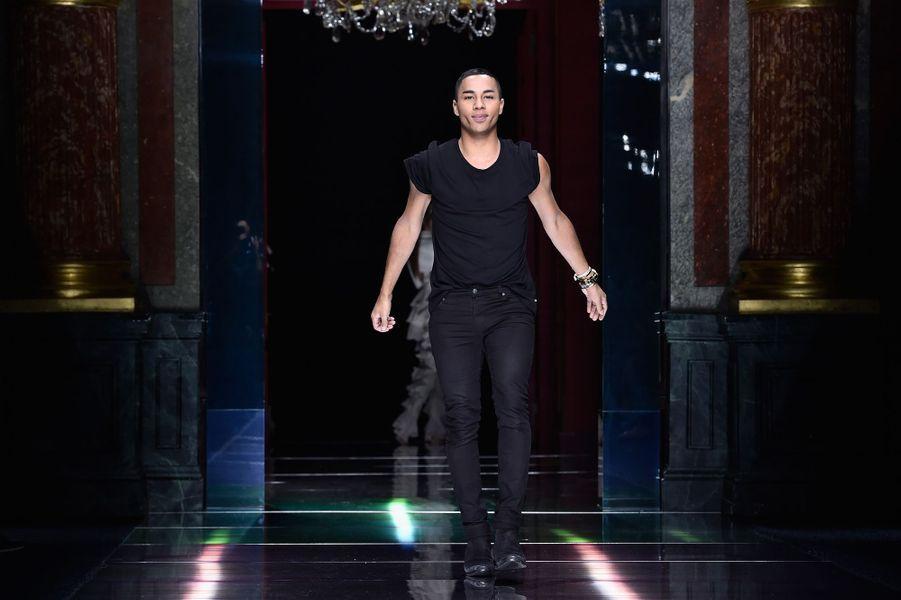 Balmain fait le plein de super models pour la Fashion week de Paris: Olivier Rousteing