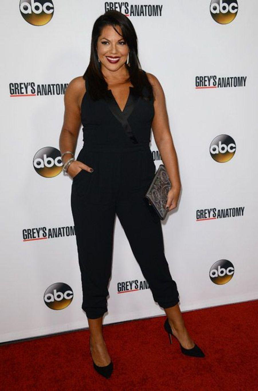 """L'actrice de """"Grey's Anatomy"""", Sara Ramirez, en Warehouse pour fêter le 200e épisode de la série, le 28 septembre 2013"""