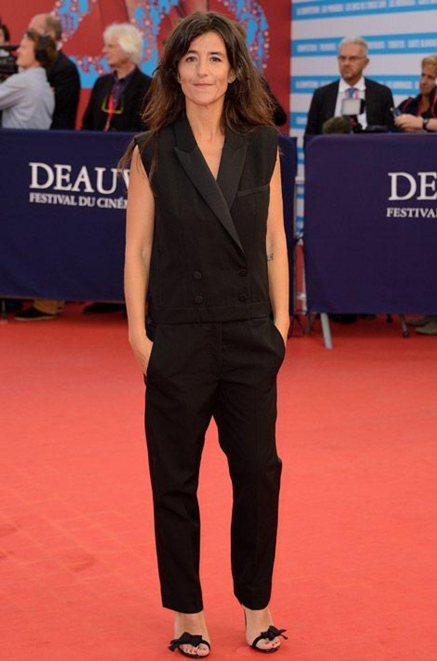 L'actrice Romane Bohringer lors de la cérémonie de clôture du festival de Deauville, le 13 septembre 2014