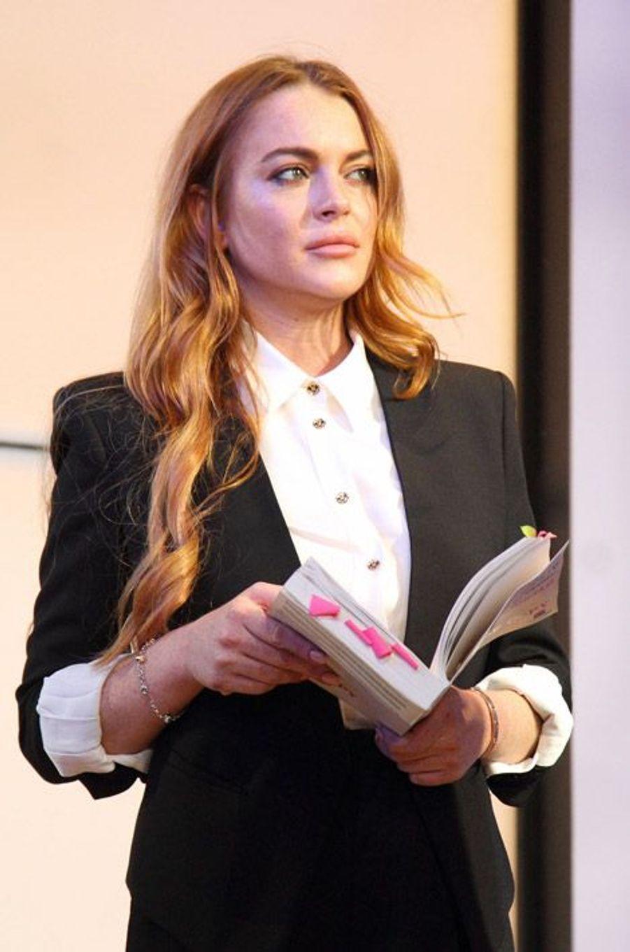 "L'actrice Lindsay Lohan et son ""strawberry blonde"""