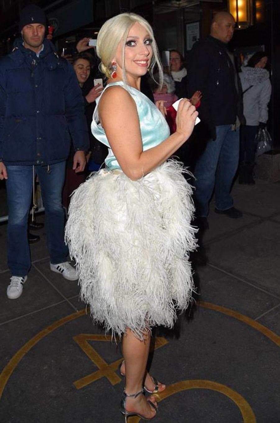 La chanteuse Lady Gaga à New York, le 27 février 2015