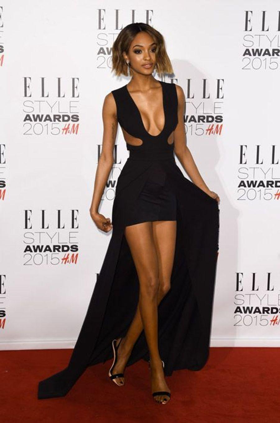Le mannequin Jourdan Dunn en Tom Ford lors des ELLE Style Awards à Londres, le 24 février 2015