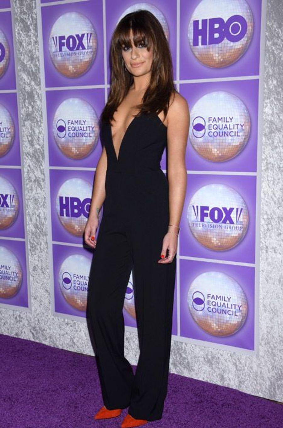 Lea Michele lors du gala Family Equality à Beverly Hills le 28 février 2015