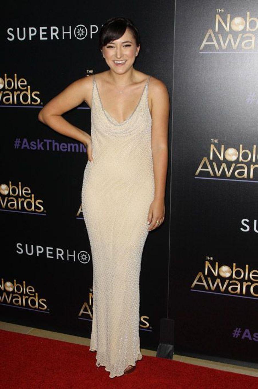 Zelda Williams, la fille de Robin Williams, lors de la cérémonie des Noble Awards à Beverly Hills, le 27 février 2015
