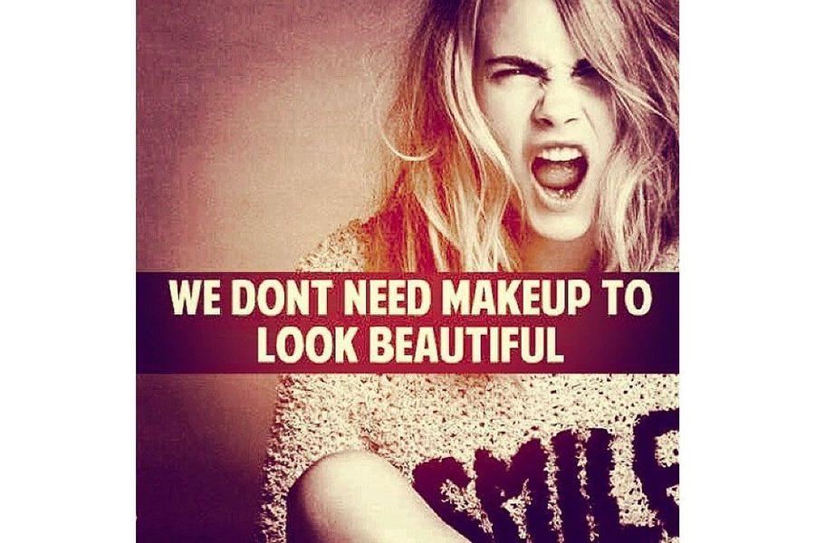 «Pas besoin de maquillage pour être belle».