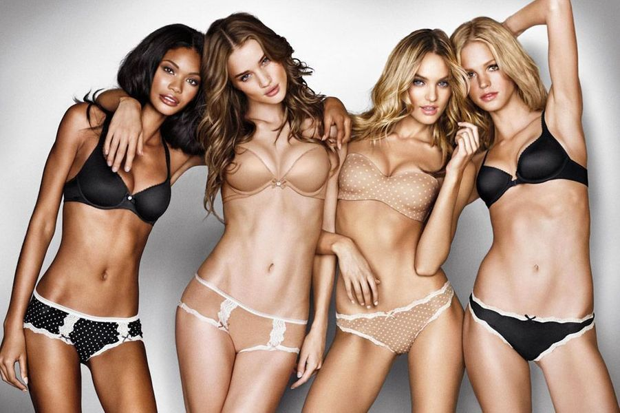 Chanel Iman, Rosie Huntington-Whiteley, Candice Swanapoel, Erin Heatherton pour Victoria's Secret