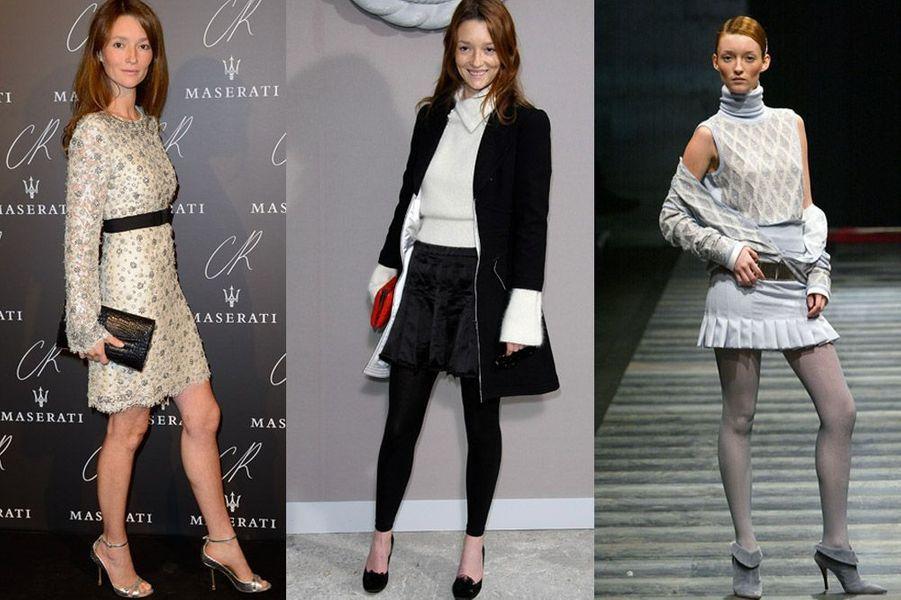 Audrey Marnay, 34 ans, elle a posé pour Calvin Klein, Versace, Valentino