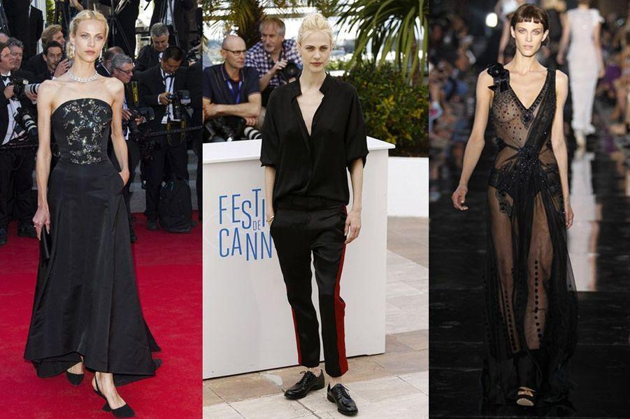 """Aymeline Valade, 29 ans : elle a défilé pour Chanel, Louis Vuitton ou Marc Jacobs et joue dans le film """"Saint Laurent"""" de Bertrand Bonello"""