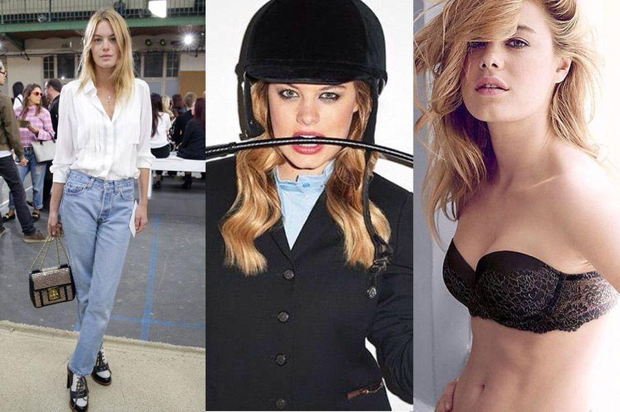Camille Rowe-Pourcheresse, 24 ans, égérie Cacharel et Chloé, elle joue aux côtés de l'acteur Robert Pattinson dans la pub Dior Homme