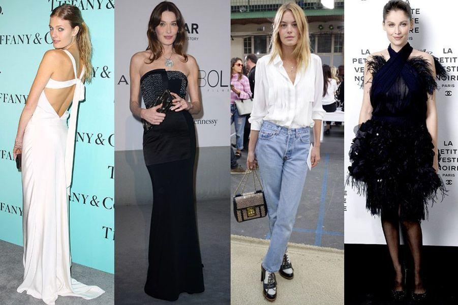 Constance Jablonski, Carla Bruni, Laetitia Casta, Aymeline Valade : les plus beaux mannequins femmes français
