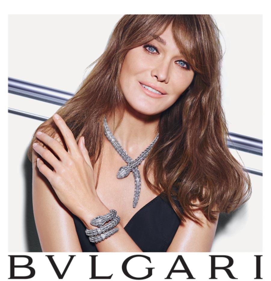 Carla Bruni-Sarkozy, égérie de charme pour la nouvelle campagne de la maison Bulgari
