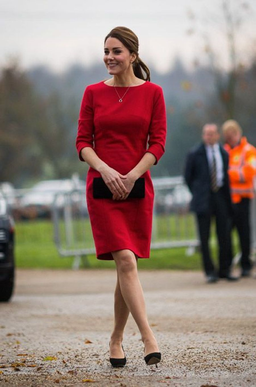 Le rouge : Kate Middleton, le 25 novembre 2014
