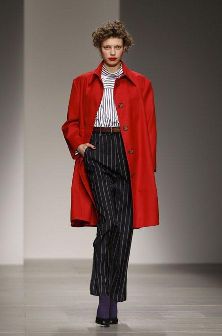 Le rouge : lors du défilé Vivienne Westwood automne-hiver 2014-2015 à Londres, le 16 février 2014