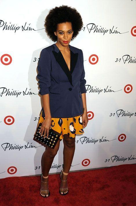 La léopard pop : la chanteuse Solange Knowles assiste à une soirée organisée par le créateur Phillip Lim à New York, le 6 septembre 2013