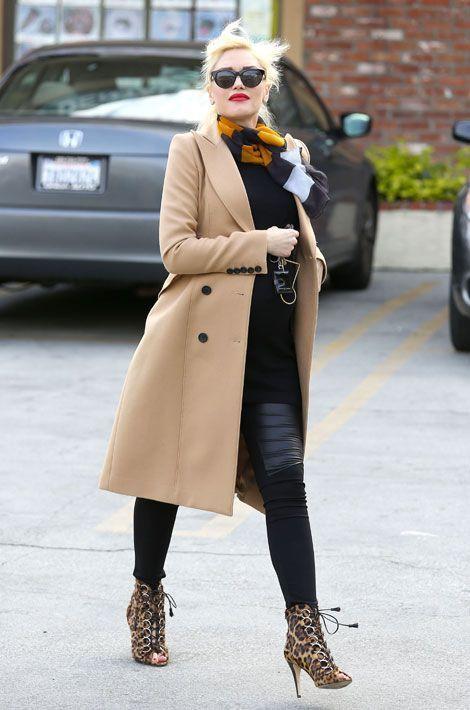 Le léopard par petites touches : la chanteuse Gwen Stefani à Los Angeles, le 7 février 2014
