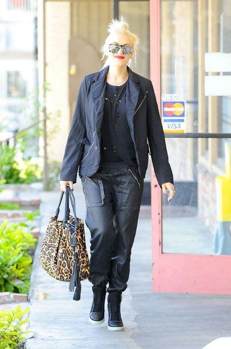 Le léopard par petites touches : la chanteuse Gwen Stefani en Californie, le 30 avril 2014