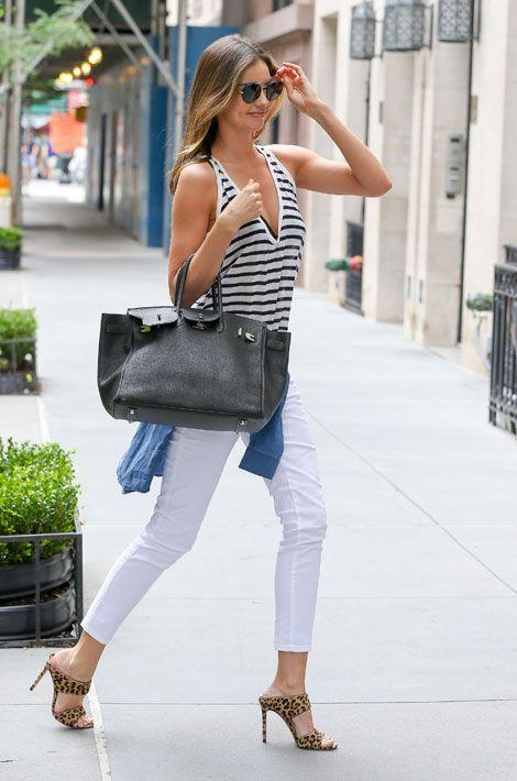 Le léopard par petites touches : le top model australien Miranda Kerr, à New York, le 19 juillet 2014