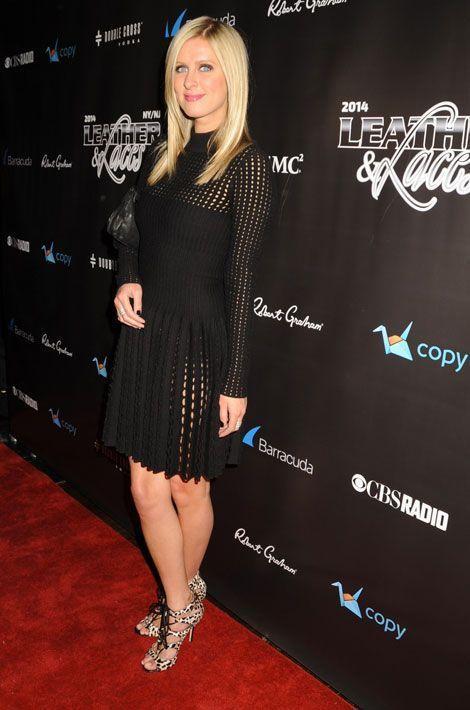 """Le léopard par petites touches : Nicky Hilton à la 11ème soirée """"Leather & Laces"""" à New York, 31 janvier 2014"""