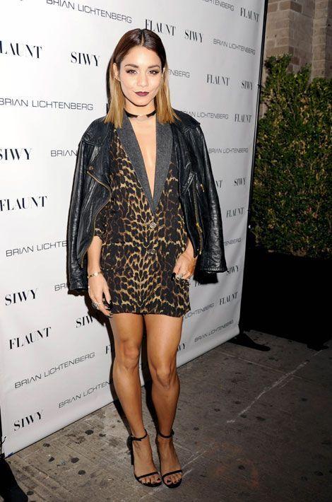 Les coupes anticonformistes : l'actrice américaine Vanessa Hudgens, lors d'une soirée à new York, le 3 septembre 2014