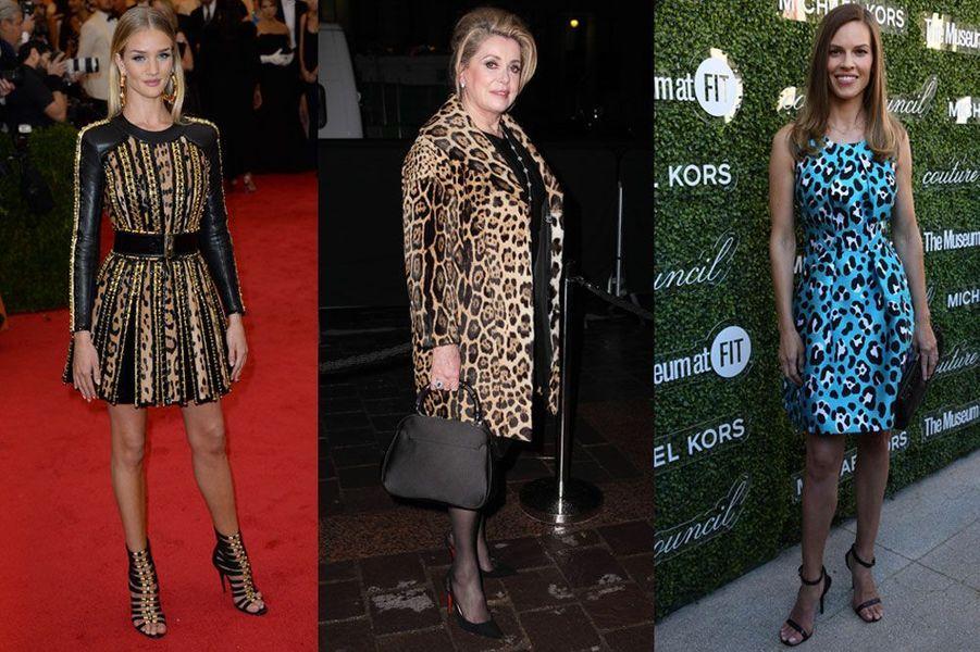 Tops models, actrices, les stars revisitent l'imprimé léopard et le modernisent