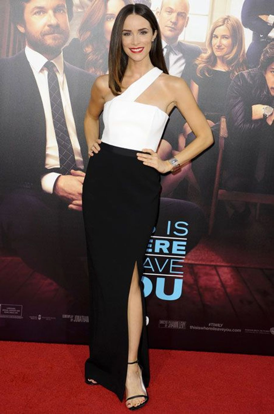 "L'actrice Abigail Spencer en Paule Ka lors de la première du film ""This Is Where I Leave You"" , le 15 septembre 2014"
