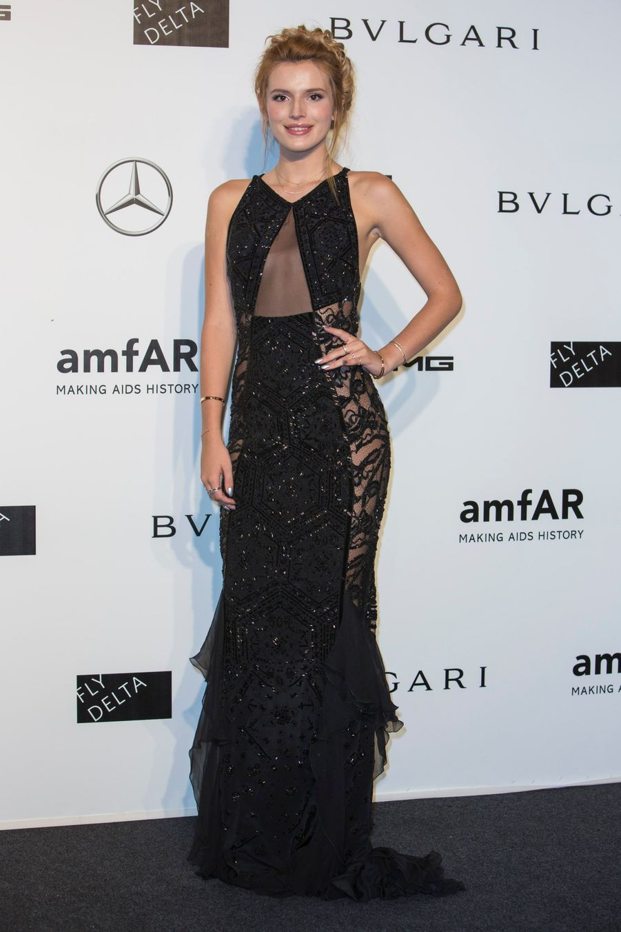 L'actrice de 16 ans, Bella Thorne, au gala de l'amfAR à Milan, le 20 septembre 2014