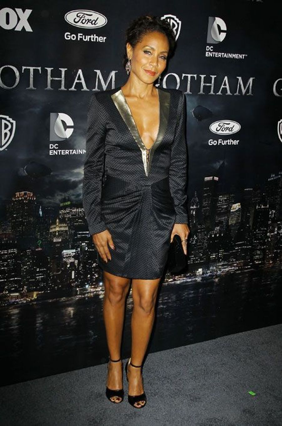 "L'actrice Jada Pinkett-Smith, et femme de Will Smith, à la première de ""Gotham Series"" à New York, le 15 septembre 2014"