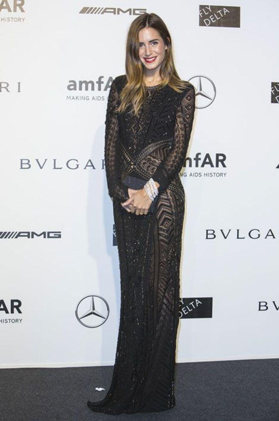 Le DJ Gala Gonzalez, au gala de l'amfAR à Milan, le 20 septembre 2014