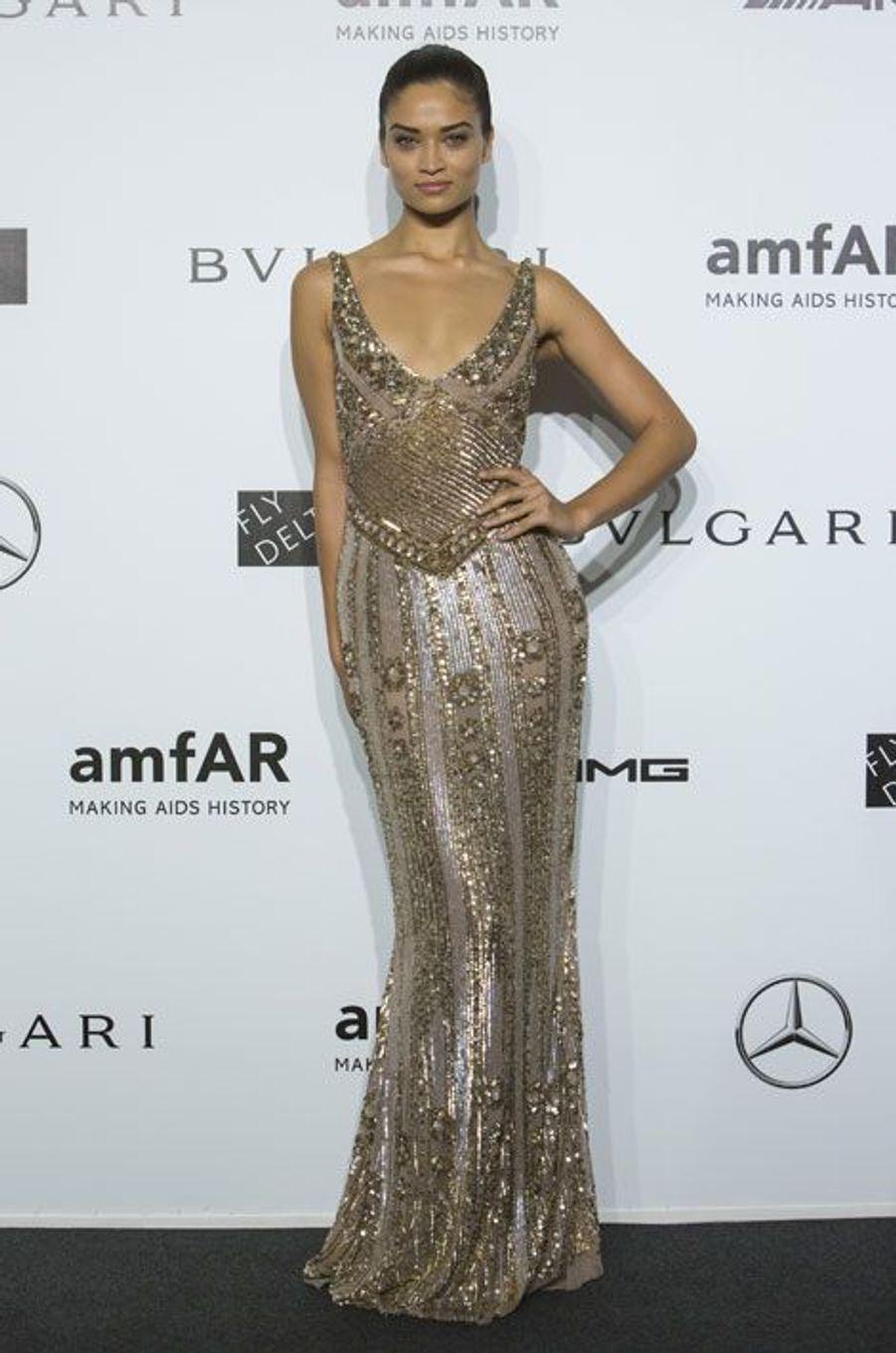 Le mannequin australien Shanina Shaik, au gala de l'amfAR à Milan, le 20 septembre 2014
