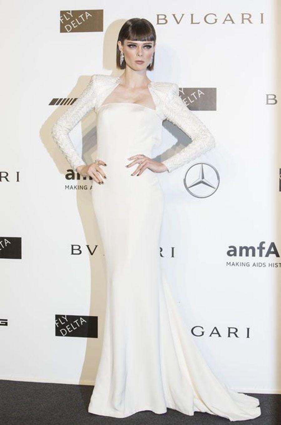 Le mannequin Coco Rocha, au gala de l'amfAR à Milan, le 20 septembre 2014