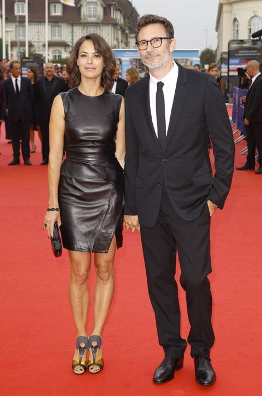 Bérénice Béjo et Michel Hazanavicius lors de l'ouverture du festival du film américain de Deauville, le 5 septembre 2014
