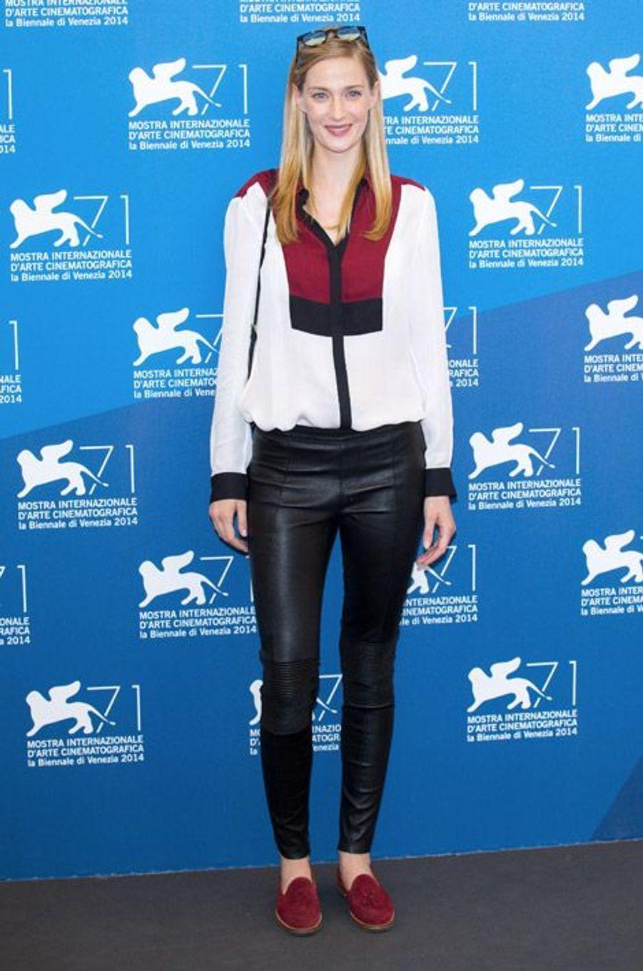 L'actrice italienne Eva Riccobono à la Mostra de Venise, le 28 août 2014