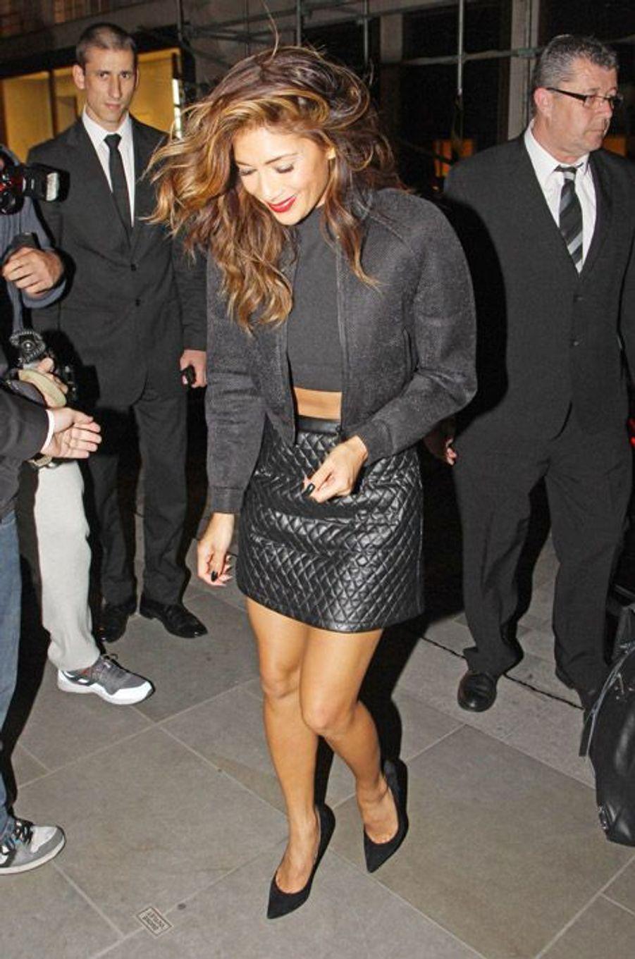 La chanteuse Nicole Scherzinger à Londres, le 29 août 2014