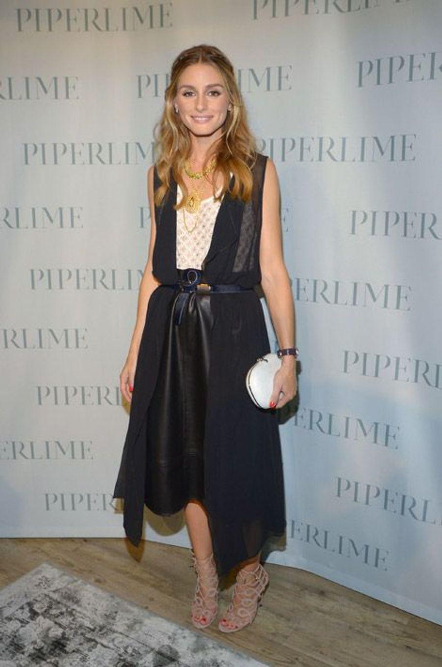 La styliste Olivia Palermo au défilé Piperline à New York, le 5 septembre 2014