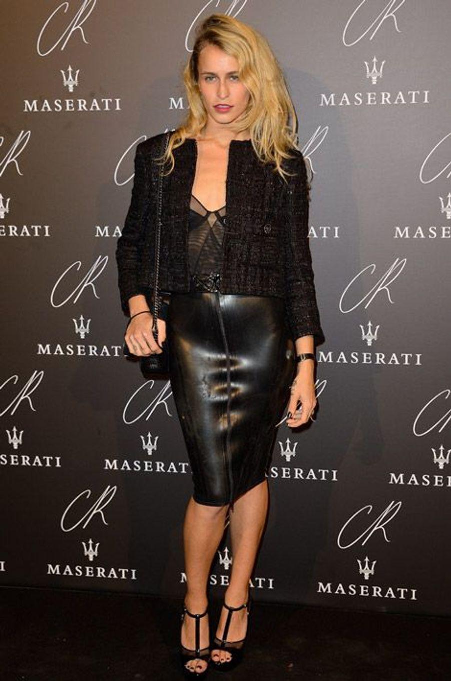 Le mannequin anglais Alice Dellal lors de la soirée Carine Roitfeld à Paris, le 30 septembre 2014