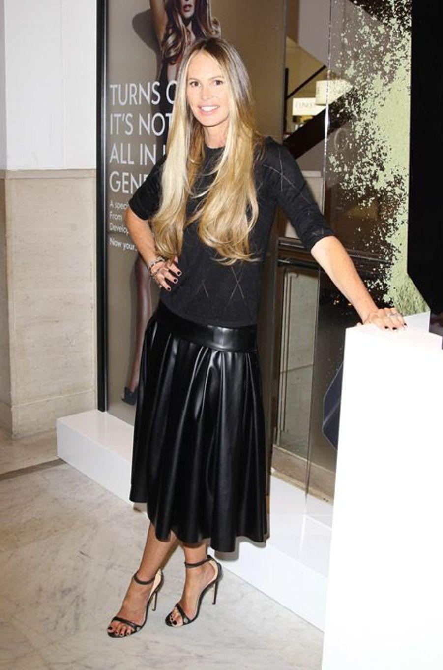 Le mannequin Elle MacPherson lors d'une soirée à Londres, le 22 mai 2014