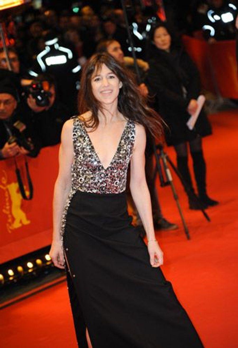 """Charlotte Gainsbourg en Louis Vuitton pour la première du film """"Everything will be fine"""", à Berlin, le 10 févrir 2015"""