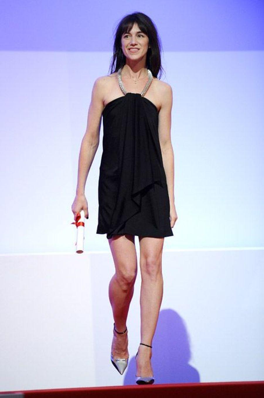 Pour la remise de la Palme d'Or à Cannes, le 23 mai 2010