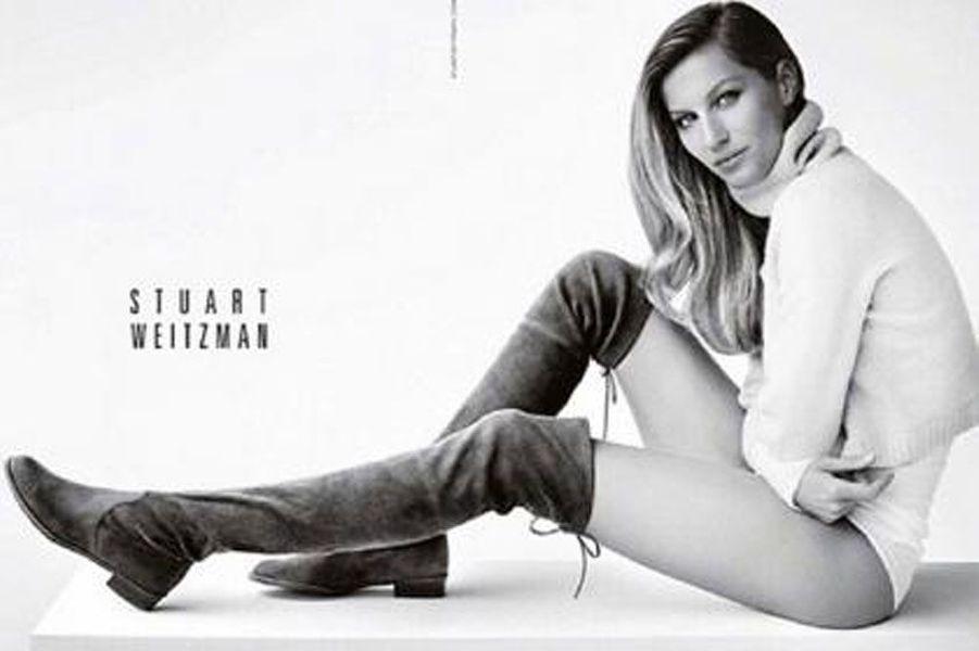 Le top brésilien Gisele Bündchen pose pour la campagne 2014 de Stuart Weitzman