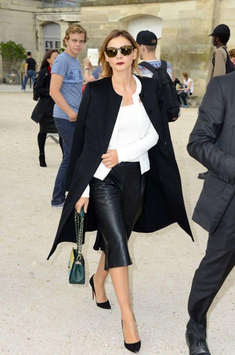 Clotilde Courau au défilé Elie Saab le 29 septembre 2014 à Paris