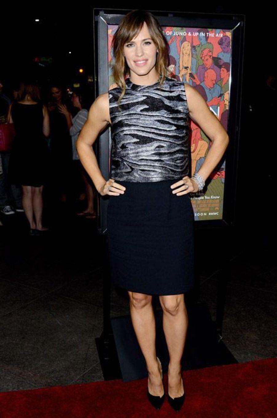 """Jennifer Garner en Proenza Schouler lors de la première de """"Men, Women and Children"""" à Los Angeles"""